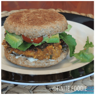 Sweet Potato and Black-eyed Pea Burgers