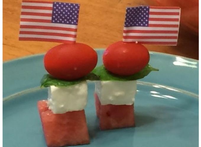 Watermelon Feta Kabobs