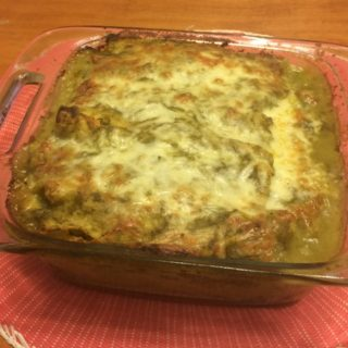 Green Chili Vegetarian Enchiladas