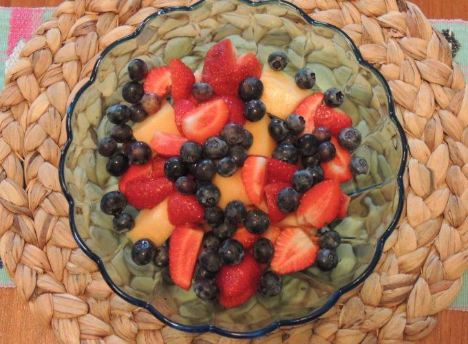 Cantaloupe Berry Salad